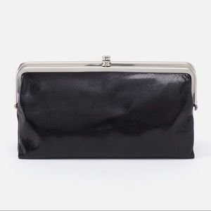 "HOBO 🖤 LAUREN CLUTCH WALLET ""vintage hide"" black"